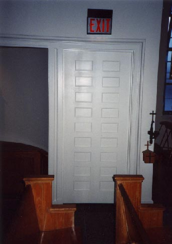 18 panel door in St. Mary's Church, Williamstown, NJ