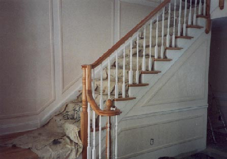 Handrail and applied moldings