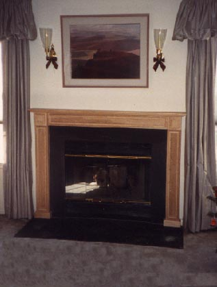 Traditional birch fireplace surround