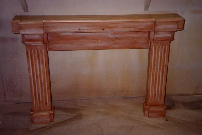 Glazed pine fireplace surround