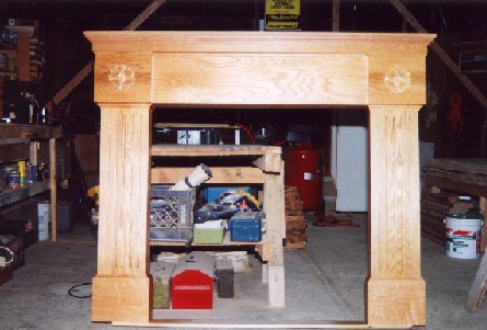 Oak fireplace