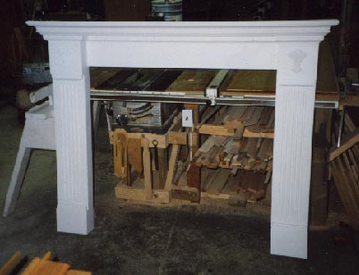 Traditional painted fireplace surround
